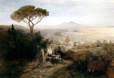 Oswald Achenbach - Coastal landscape, Naples