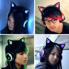 Axent Wear cat ear headphones ! i neeeeeEEEEEEEED Iiiiiiiit