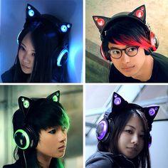 Axent Wear cat ear headphones ! i neeeeeEEEEEEEED Iiiiiiiit