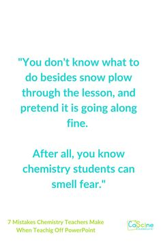 Are your PowerPoint lessons boring? Do you need a few tips on how to teach off of PowerPoints better? It is so easy to mess presentations up and not even realize it! This blog post will help you become a better chemistry teacher. #chemistryteacher High School Chemistry, Chemistry Teacher, Teaching Writing, Teaching Science, Chemical Equation, Student Problems, Powerpoint Lesson, Best Teacher