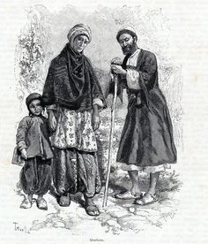 Antique print Persia persian fireworshippers infidels GUEBERS GUEBRES GAUER 1886