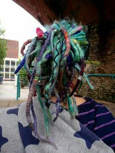 Coloured dreads