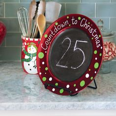 What better way to count down the days until Christmas with this adorable chalkboard painted Chr...