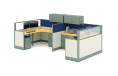 A more traditional design, this 2 pack is collaborative and semi-private. If your client needs storage, this space includes several options. Office Furniture Warehouse, Flexible Furniture, Panel Systems, Prefixes, Your Space, Cubicles, Storage, Environment, Traditional