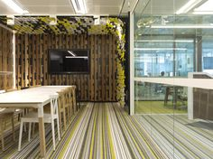 Zintra Acoustic Panels  Project: Gadens Lawyers Workplace. Designer: Hassell Photography: Alicia Taylor  www.baresque.com.au/products/cladding/zintra