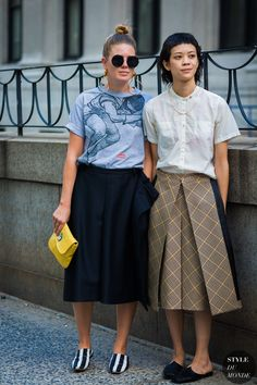 Megan Bowman Gray and Patty Lu by STYLEDUMONDE Street Style Fashion Photography