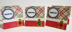 Gingerbread Man Mini Thank You Cards Set of 20 | luvncrafts - Cards on ArtFire
