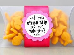 gold fish valentine's day idea for kids #toddlers