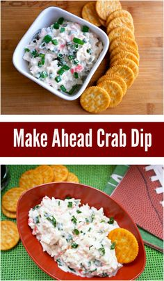 This cold crab dip is the perfect easy dip for the game days since it has to be made in advance to let all of the flavors combine. - Teaspoon Of Goodness