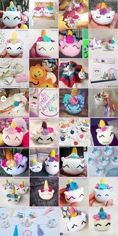 unicornios tejidos por lectoras del blog Crochet Unicorn Pattern, Crochet Animal Amigurumi, Crochet Patterns Amigurumi, One Skein Crochet, Crochet Pillow, Tapestry Crochet, Crochet Keychain, Crochet Bookmarks, Diy Crochet For Beginners