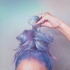 hair, purple, blue