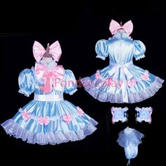 Cotton Sissy boy maid dress pearl button CD//TV Tailor-made *g