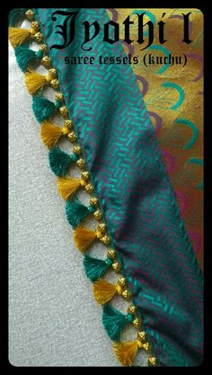 Saree Tassels Designs, Saree Kuchu Designs, Salwar Neck Designs, Simple Blouse Designs, Stylish Blouse Design, Blouse Designs Silk, Kanjivaram Sarees Silk, Tatting Necklace, Kota Sarees