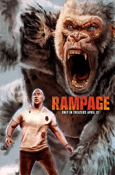 A hand painted alternative movie poster for the Talenthouse contest for the Rampage movie starring Dwayne Johnson. Classic Monster Movies, Classic Monsters, Rampage Movie, Dwanye Johnson, Baby Girl Birthday Outfit, Movies To Watch Hindi, Giant Animals, Night Film, Movie Synopsis