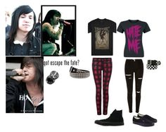"""Craig Mabbitt/ Escape The Fate outfits"" by bandgirling13 ❤ liked on Polyvore featuring Dex, Vans and Converse"