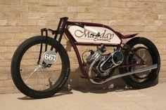 mayday custom vintage motorized bicycle