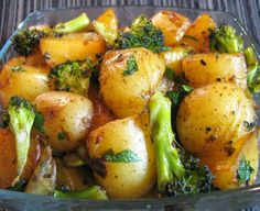 For the Love of Cooking » Roasted Baby Potatoes and Broccoli with Soy Sauce, Butter and Parsley