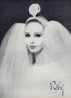 Rébé 1963 Harry Meerson Wedding Dress Fashion Photography