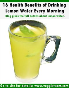 16 Health Benefits of Drinking Lemon Water Every Morning | Veggie Team