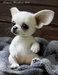 Купить или заказать Чихуахуа 'Санди' в интернет-магазине на Ярмарке Мастеров. Собачка выполнена в технике сухого валяния. Голова на двойном шплинте, в лапках и хвосте металлический каркас.