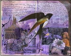 KENT TUT2. This is another example. I can not read the text but I can understand a little bit about the content. The author used the Swallow for the main image then add some other images such as building and people. The purple background is also good for this example, make it like a novel.