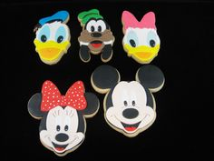 Mickey Mouse Club fondant covered cookies.