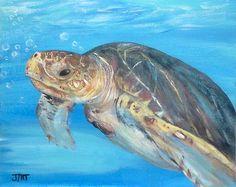 Sea turtle painting on x canvas board, seascape original acrylic painting, unframed office art, wall decor art on canvas, home decor by ThisArtToBeYours on Etsy Sea Turtle Painting, Sea Turtle Art, Sea Turtles, Acrylic Painting Tutorials, Canvas Board, Seascape Paintings, Office Art, Wall Art Decor, Acrylics