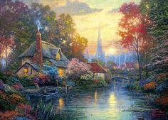 Nanettes Cottage ~ Thomas Kinkade