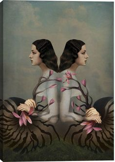 Cocoon II Figurative Canvas Wall Art Print by Catrin Welz-Stein