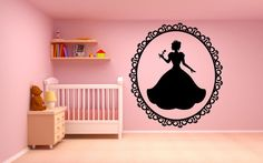 Wall Room Decor Art Vinyl Sticker Mural Decal Pattern Flower Sweet Pretty Interior Nursery Girl Kids Pictures Crown Princess Queen New F2149