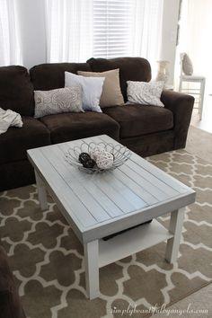 diy farmhouse coffee table (ikea hack) | living room | pinterest