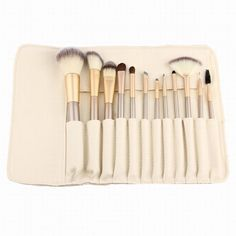12 Pcs Stylish PU Brush Bag Horsehair Makeup Brushes Set #shoes, #jewelry, #women, #men, #hats, #watches, #belts
