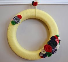 Another yarn wrapped wreath... I think it's my new favorite thing!