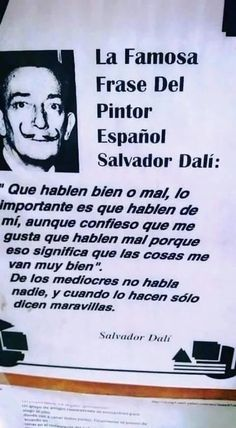 Frases by marquita Words Quotes, Wise Words, Life Quotes, Sayings, Daily Quotes, Smart Quotes, Best Quotes, Salvador Dali Quotes, Quotes En Espanol