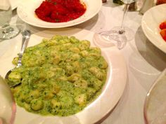 CIELO, FAIRFIELD, NJ: Gnocchi with pesto sauce. http://njmonthly.com/blogs/tablehopwithRosie/2014/4/2/restaurant-news.html#read_more