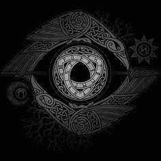Odin #simbolos #bnw #vikingos #dioses #cuervos