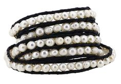 Long Stackable Freshwater Cultured Pearls Beaded Wrap Bracelet, 40 Inches -- Check out this great product. (This is an affiliate link and I receive a commission for the sales)