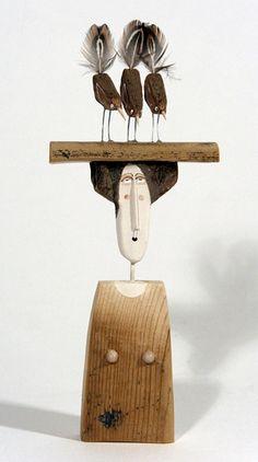 Viewing Platform By Lynn Muir Handcrafted & handpainted driftwood sculpture