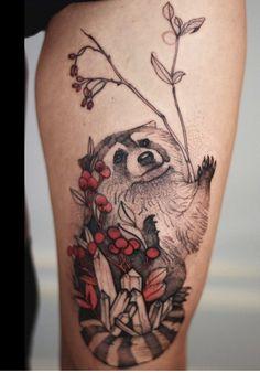 Joanna Świrska Dzo Lama raccoon tattoo