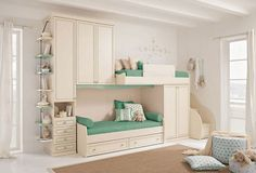 sweet and simple bunk beds for girls room... Or for one girl with lots of sleepovers