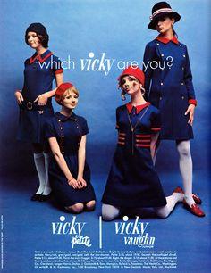 Dayle Haddon, Joan Paulson, Cay Sanderson & Regine Jaffrey 1968