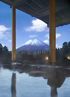 Hot spring in Hakone, Japan