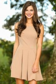 Fall Favorite Dress-Beige