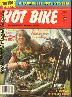 1988 January Hot Bike Motorcycle Magazine Back-Issue Vintage Indian Motorcycles, Antique Motorcycles, The Intimidator, Camden County, Hot Bikes, The Past, Magazine, Shovel, Evo