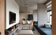 Modern Contemporary Penthouse Apartment in Kiev, Ukraine