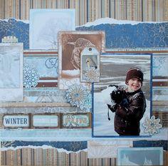 Winter Wonderland Fun Layout Three Ways by Ilene Tell using BoBunny Whiteout collection. #BoBunny @ilenetell