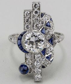 Tiffany & Co. Art Deco diamond ring, circa 1935. Estimate, $8,000-$12,000. Capo Auctions image
