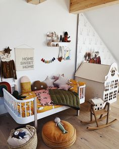 Olli Ella Holdie House in this vintage inspired kids room bedroom ideas Cheap Home Decor, Unique Home Decor, Kids Bedroom, Bedroom Decor, Room Kids, Boy Room, Child Room, Bedroom Ideas, Toddler Room Decor