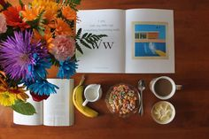 It's Friday! Yay!  David Hockney A Bigger Splash  #books #bibliophile #booklover #reading #reads #bookworm #bookgram #bookstagram #igreads #food #breakfast #bookphotography #foodphotography #flowers by thebookshelfofachampagnechild