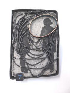 Maria Whetmann, brooch, concrete, metal